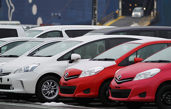 Toyota Cars in Warehouse Parking